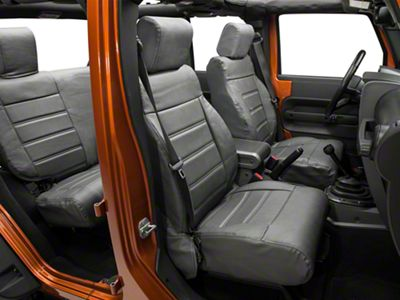 Alterum Leatherette Seat Covers - Granite (08-10 Jeep Wrangler JK 4 Door)