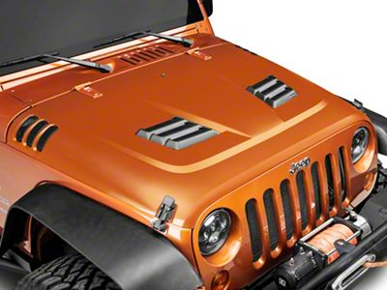 Rugged Ridge Performance Vented Hood Kit - Unpainted (07-18 Jeep Wrangler JK)