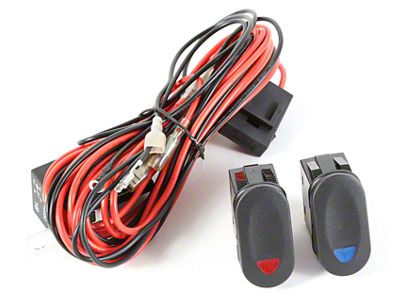Rugged Ridge Wiring Harness for 2 HID Offroad Fog Lights w/ 2 Rocker Switches (87-18 Jeep Wrangler YJ, TJ, JK & JL)