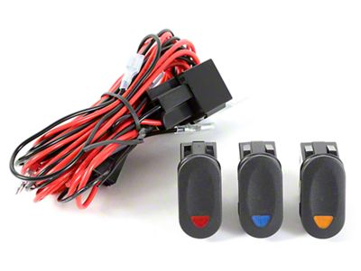 Rugged Ridge Wiring Harness for 3 HID Offroad Fog Lights w/ 3 Rocker Switches (87-18 Jeep Wrangler YJ, TJ, JK & JL)
