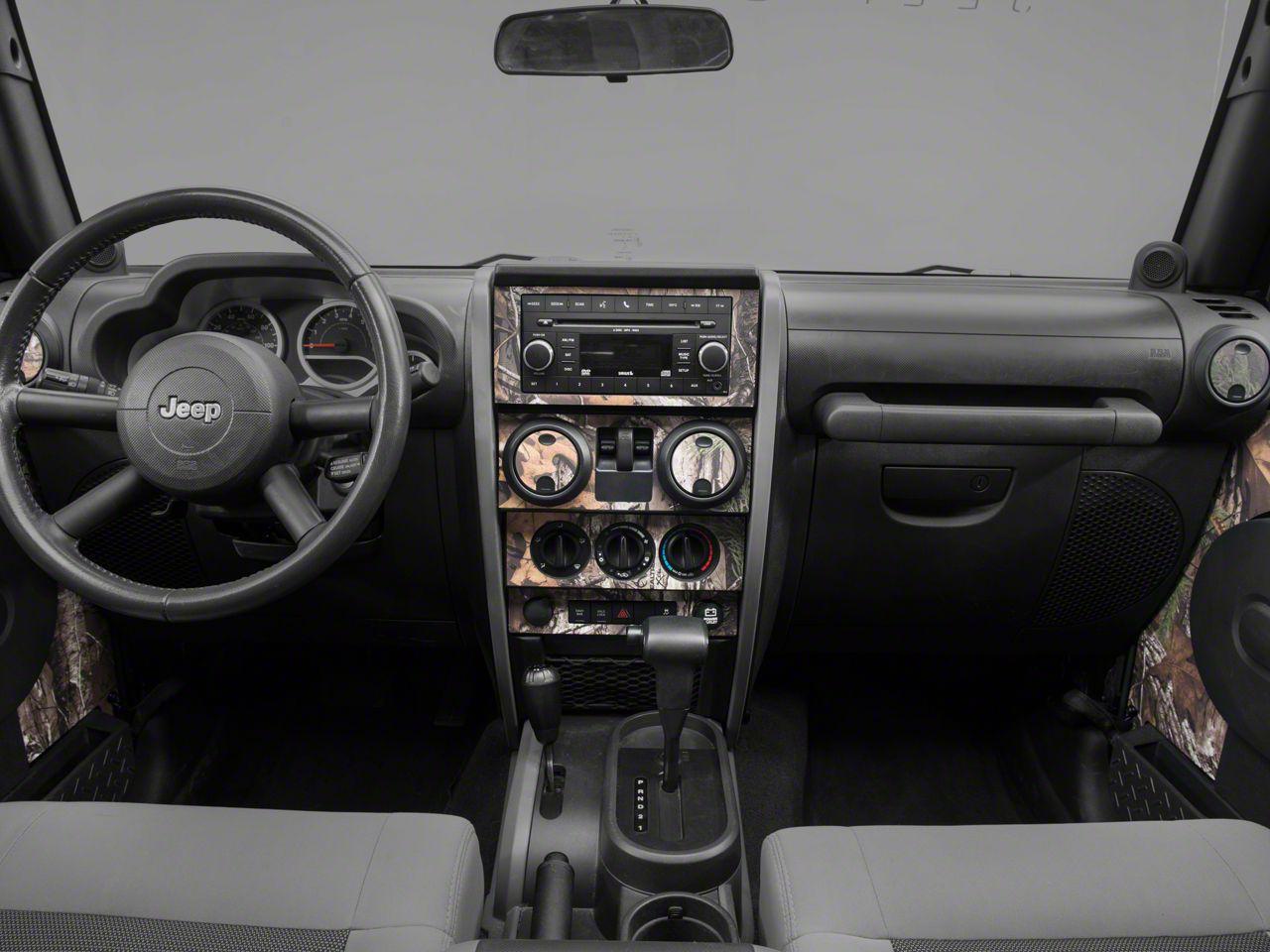 Real Tree Camo Dash Kit w/ Interior Door Camo (07-10 Jeep Wrangler JK 2 Door)