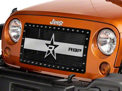 RBP RX-3 Series Studded Frame Grille - Black & Chrome (07-18 Jeep Wrangler JK)