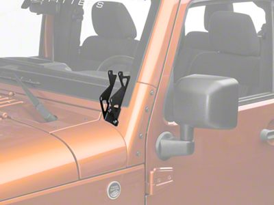 Rigid Industries Dual D-Series A-Pillar Light Mount Kit (07-18 Jeep Wrangler JK)