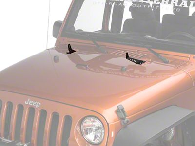 Rigid Industries 20 in. E Series Hood Mounting Brackets (07-18 Jeep Wrangler JK)