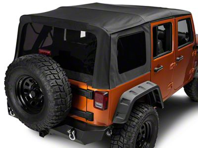 Rugged Ridge Replacement Sailcloth Soft Top w/ Tinted Windows - Black Diamond (10-18 Jeep Wrangler JK 4 Door)