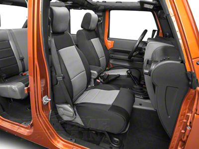 Smittybilt Neoprene Front & Rear Seat Covers - Charcoal (07-18 Jeep Wrangler JK)