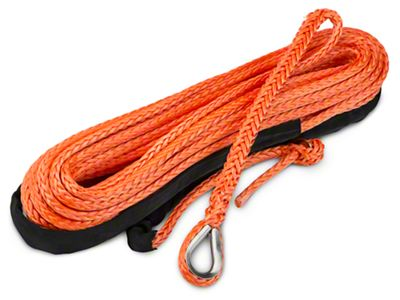 Barricade Replacement Synthetic Rope for Barricade 12,000 lb. Winch - Orange