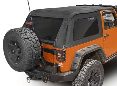 Rugged Ridge Bowless Top - Black Diamond (07-18 Jeep Wrangler JK 2 Door)
