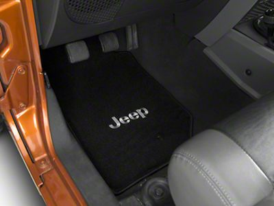 Lloyd Front & Rear Floor Mats w/ Jeep Logo - Black (07-13 Jeep Wrangler JK 4 Door)