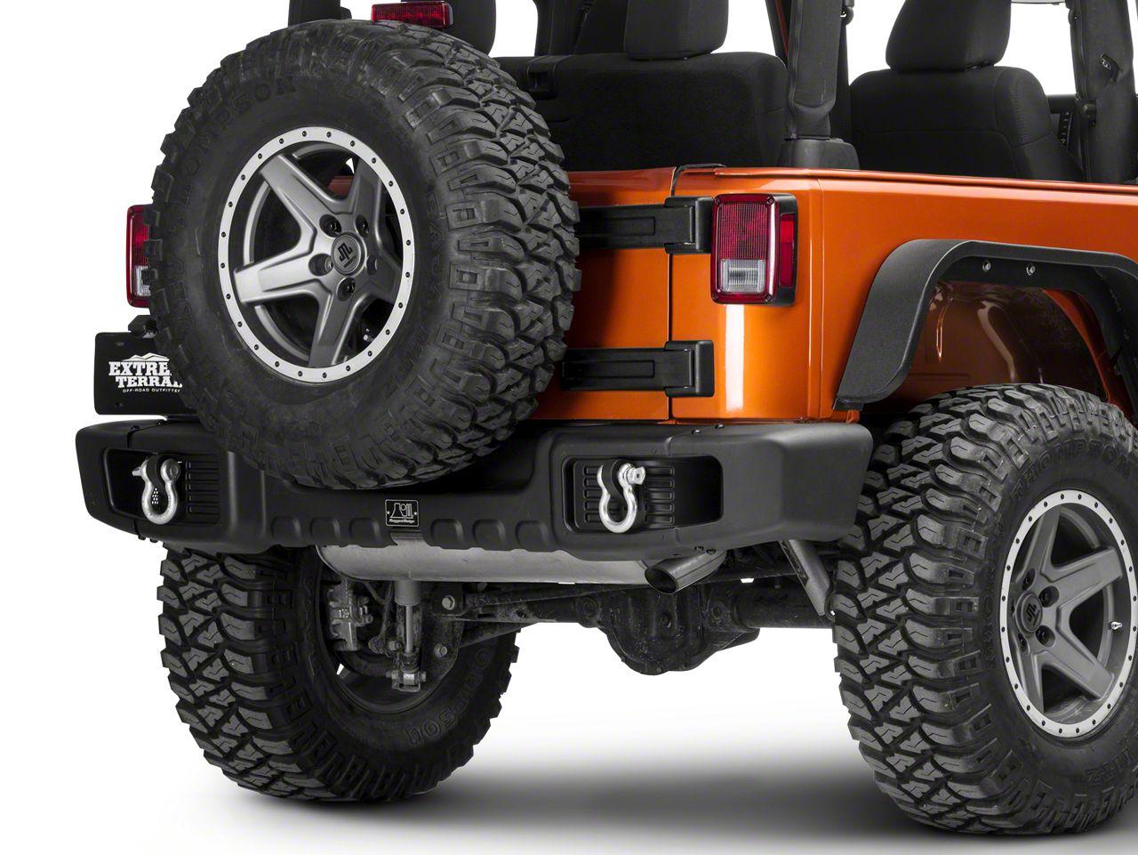 Rugged Ridge Spartacus Rear Bumper - Satin Black (07-18 Jeep Wrangler JK)