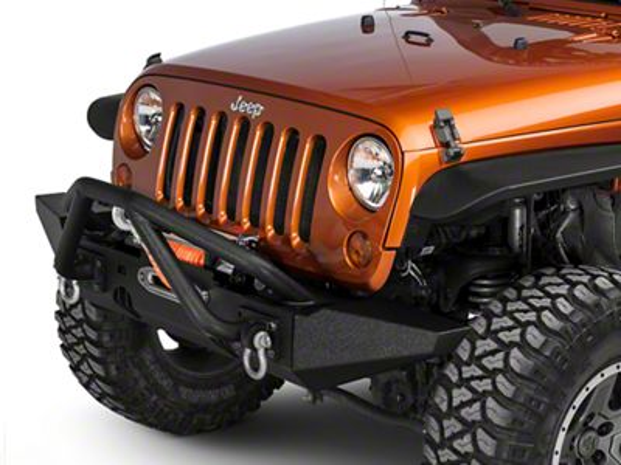 Rugged Ridge XHD Front Bumper Kit w/ Striker Bar & Standard Bumper Ends (07-18 Jeep Wrangler JK)