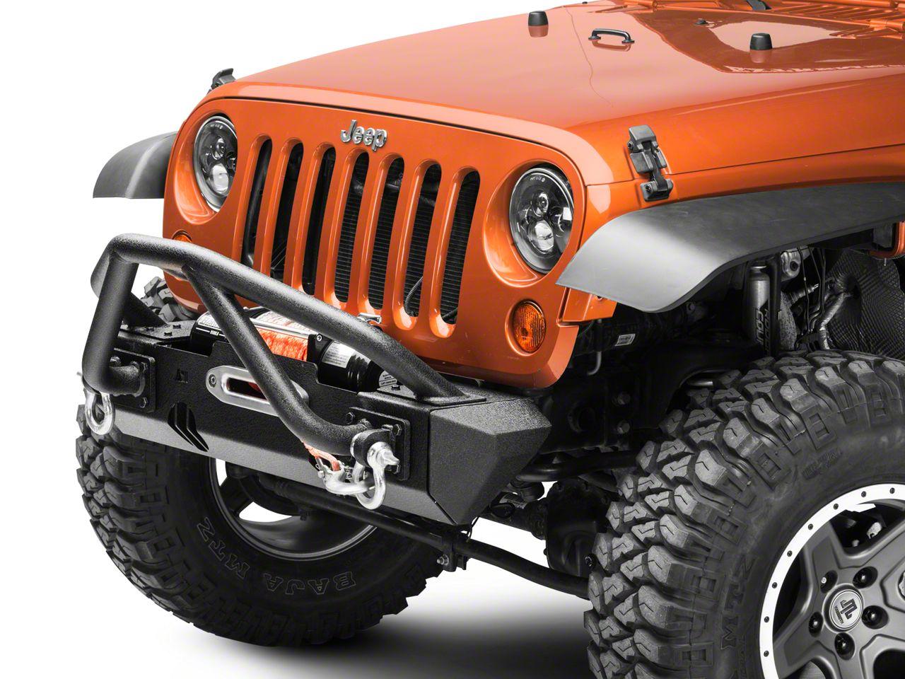 Rugged Ridge XHD Front Bumper Kit w/ Striker Bar & Stubby Bumper Ends (07-18 Jeep Wrangler JK)