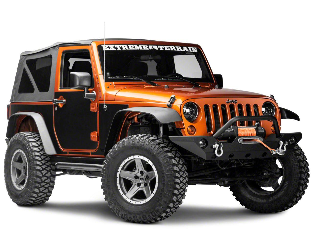 Rugged Ridge Magnetic Protection Panel Kit - Matte Black (07-18 Jeep Wrangler JK 2 Door)