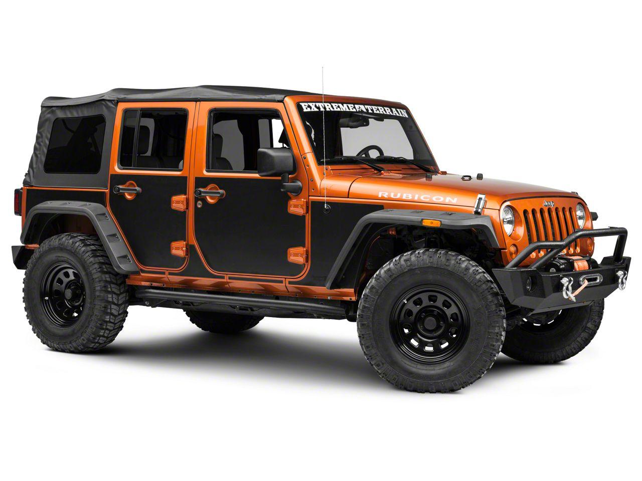 Rugged Ridge Magnetic Protection Panel Kit - Matte Black (07-18 Jeep Wrangler JK 4 Door)