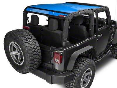 JTopsUSA Safari Mesh - Blue (07-18 Jeep Wrangler JK 2 Door)