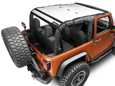 JTopsUSA Safari Mesh - White (07-18 Jeep Wrangler JK 2 Door)