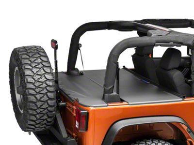 JTopsUSA Tonneau Cover - Black (07-18 Jeep Wrangler JK 2 Door)