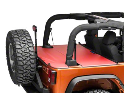 JTopsUSA Tonneau Cover - Red (07-18 Jeep Wrangler JK 2 Door)