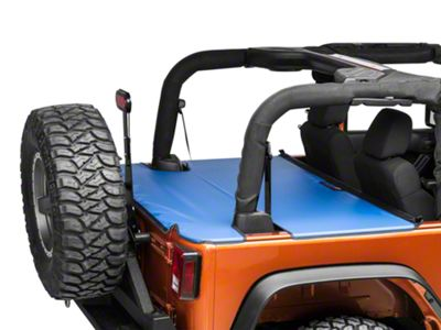 JTopsUSA Tonneau Cover - Blue (07-18 Jeep Wrangler JK 2 Door)