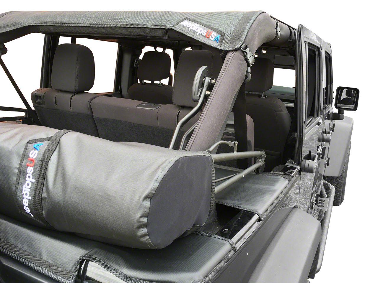 Safari Shade Top Set w/ Tonneau & Boot - Black (07-18 Jeep Wrangler JK 4 Door)