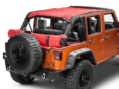 Safari Shade Top Set w/ Tonneau & Boot - Red (07-18 Jeep Wrangler JK 4 Door)