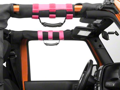 Rugged Ridge Ulimate Grab Bar Handles for 2-3 in. Roll Bars - Pink (87-18 Jeep Wrangler YJ, TJ, JK & JL)
