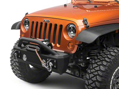 Iron Cross Stubby Front Bumper w/ Push Bar (07-18 Jeep Wrangler JK)