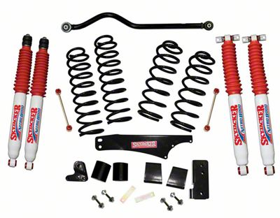 SkyJacker 3.5 in. Softride Lift Kit w/ Nitro Shocks & Adjustable Front Track Bar (07-18 Jeep Wrangler JK 2 Door)