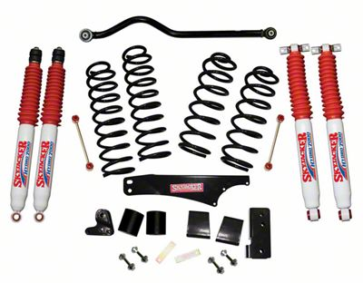SkyJacker 4 in. Softride Lift Kit w/ Hydro Shocks & Adjustable Front Track Bar (07-18 Jeep Wrangler JK 4 Door)