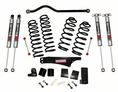 SkyJacker 4 in. Softride Lift Kit w/ M95 Shocks & Adjustable Front Track Bar (07-18 Jeep Wrangler JK 4 Door)