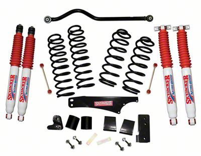 SkyJacker 4 in. Softride Lift Kit w/ Nitro Shocks & Adjustable Front Track Bar (07-18 Jeep Wrangler JK 4 Door)