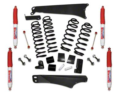 SkyJacker 4 in. Rock Ready Lift Kit w/ Hydro Shocks (07-18 Jeep Wrangler JK 4 Door)