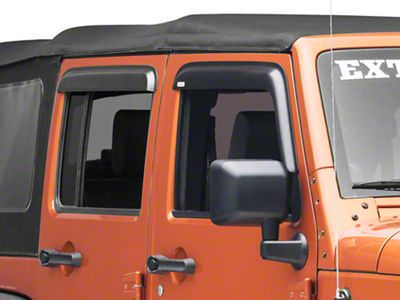 Rugged Ridge Window Visors - Carbon Fiber (07-18 Jeep Wrangler JK 4 Door)