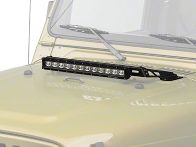 Rugged Ridge 20 in. LED Light Bar w/ Hood Mounted Light Bar (97-06 Jeep Wrangler TJ)