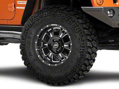 SOTA Off Road M-80 Death Metal Wheel - 17x9 (07-18 Jeep Wrangler JK; 2018 Jeep Wrangler JL)
