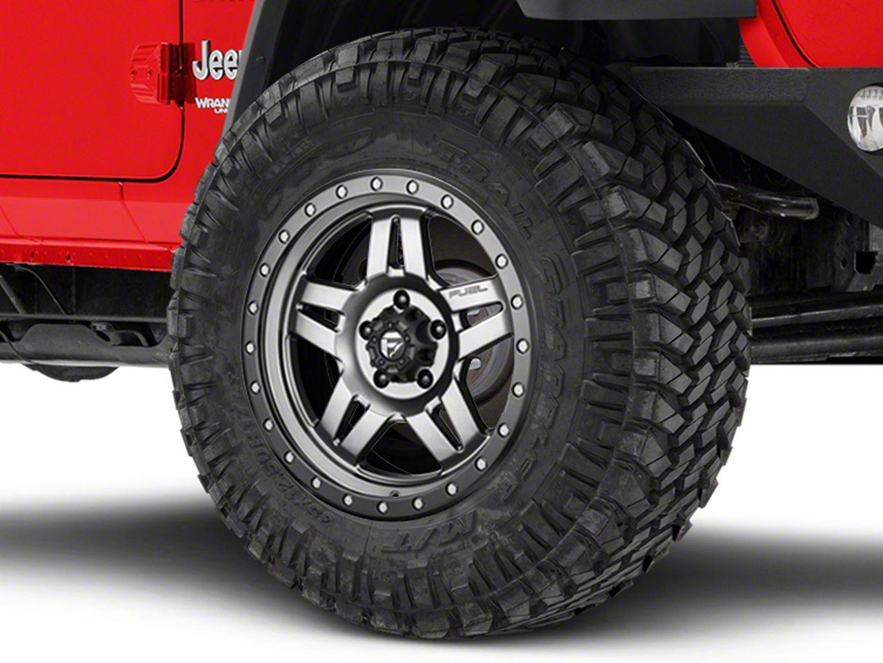 Fuel Wheels Anza Matte GunMetal Wheel - 18x9 (18-19 Jeep Wrangler JL)