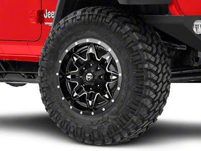 Fuel Wheels Lethal Black Milled Wheel - 17x9 (18-19 Jeep Wrangler JL)