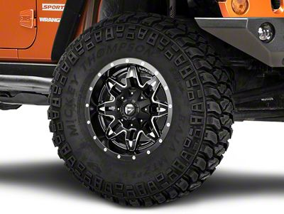 Fuel Wheels Lethal Black Milled Wheel - 17x9 (07-18 Jeep Wrangler JK; 2018 Jeep Wrangler JL)