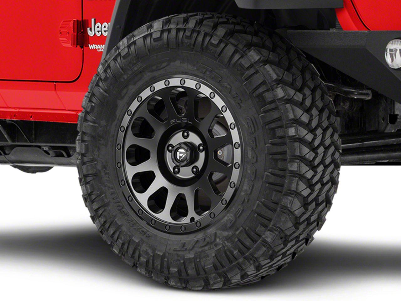 Fuel Wheels VECTOR Matte Black Wheel - 18x9 (18-19 Jeep Wrangler JL)