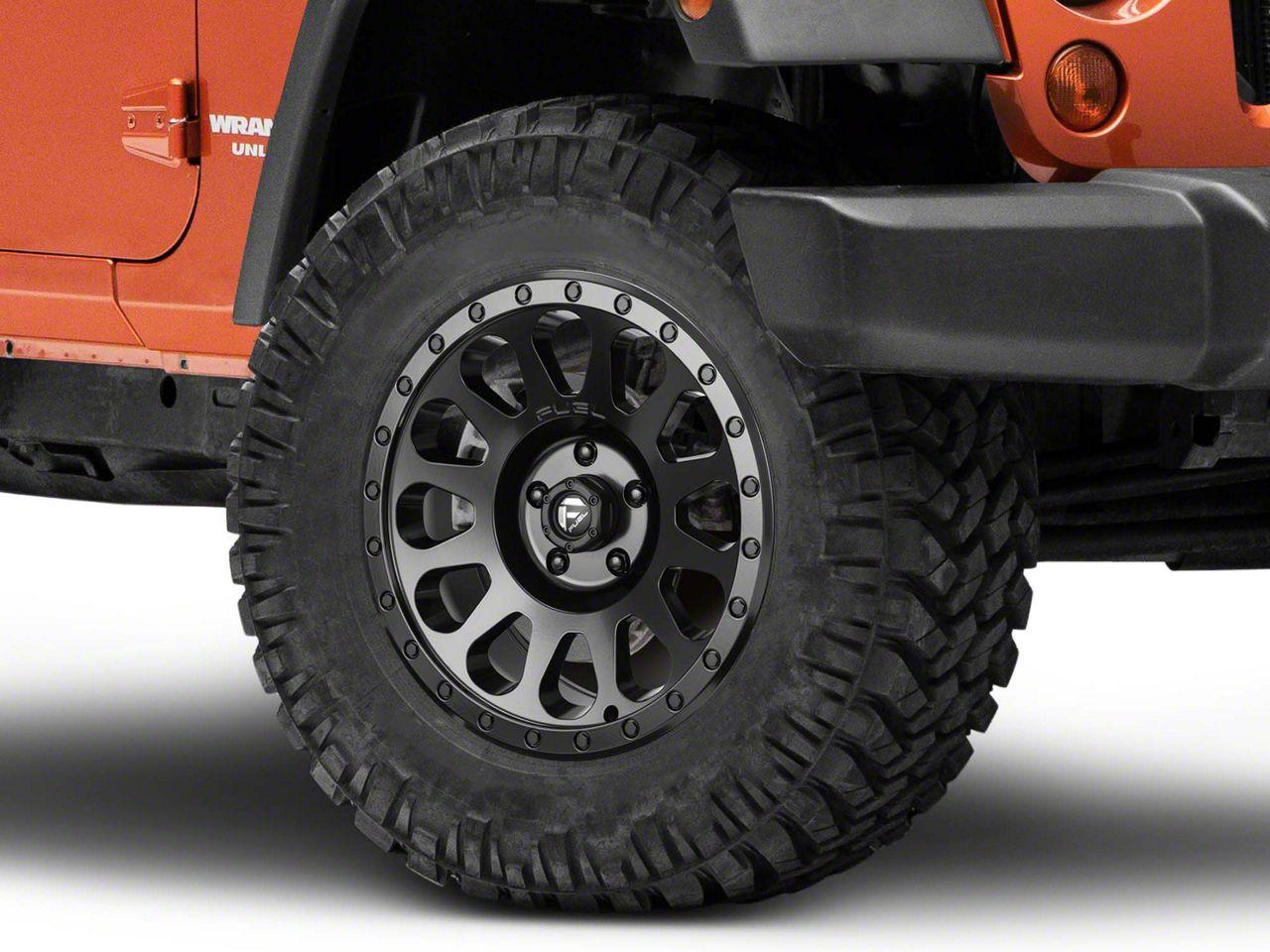 Fuel Wheels VECTOR Matte Black Wheel - 18x9 (07-18 Jeep Wrangler JK; 2018 Jeep Wrangler JL)