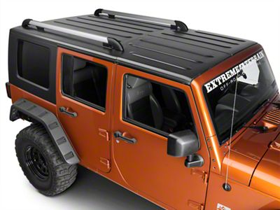 Teraflex Nebo Roof Rack Main Rail Kit - Silver (11-18 Jeep Wrangler JK 4 Door)