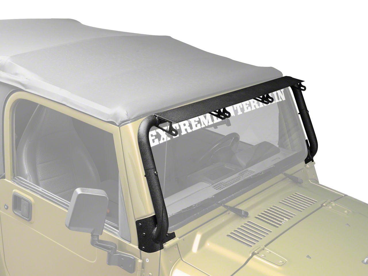 Rugged Ridge Windshield Mounted Light Bar (97-06 Jeep Wrangler TJ)