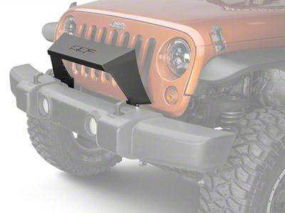 Off Camber Fabrications by MBRP Formed Front Light Bar - Black (07-18 Jeep Wrangler JK)