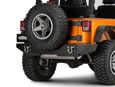 Off Camber Fabrications by MBRP Rear Full Width Bumper Package - LineX Coated (07-18 Jeep Wrangler JK)