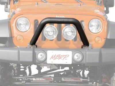 Off Camber Fabrications by MBRP Front Light Bar/Grille Guard System - LineX Coated (07-18 Jeep Wrangler JK)