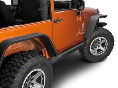 Off Camber Fabrications by MBRP Rock Rail Kit - LineX Coated (07-18 Jeep Wrangler JK 2 Door)