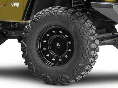 Mammoth General Matte Black Wheel - 16x8 (87-06 Jeep Wrangler YJ & TJ)