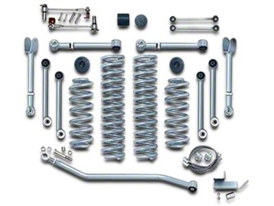 Rubicon Express 4.5 in. Super Flex Lift Kit w/ Mono Tube Shocks (97-06 Jeep Wrangler TJ)