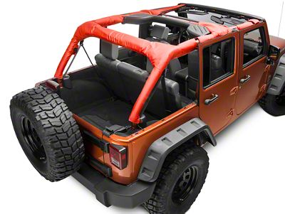 Dirty Dog 4x4 Roll Bar Covers - Red (07-18 Jeep Wrangler JK 4 Door)