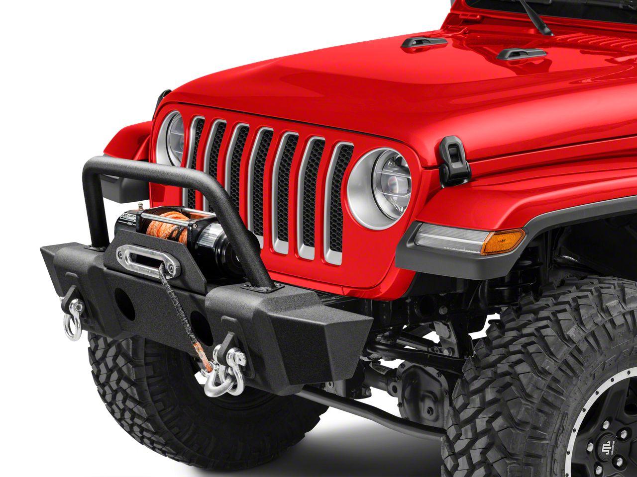 RedRock 4x4 Front Bumper w/ Grille Guard & Winch Mount (2018 Jeep Wrangler JL)